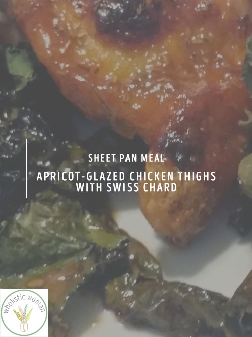 Apricot-Glazed Chicken Thighs with Swiss Chard